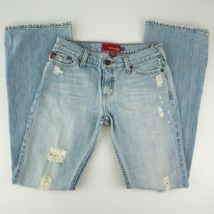 Hollister Light Destroyed Bootcut Jeans Size 5